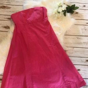 Gap Pink Strapless Fit & Flare Dress Size 4